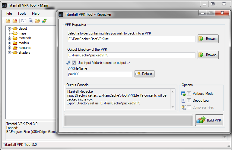 Titanfall VPK Tool picture or screenshot