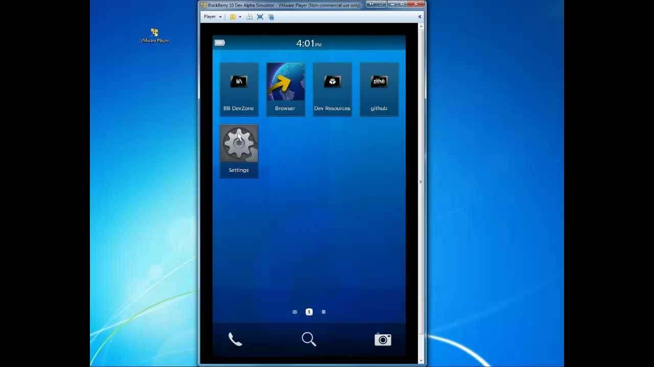 BlackBerry Simulator picture or screenshot