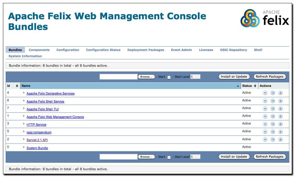 Apache Felix picture or screenshot