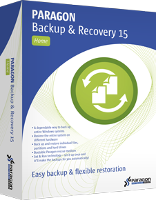 Paragon Backup & Recovery Home picture or screenshot