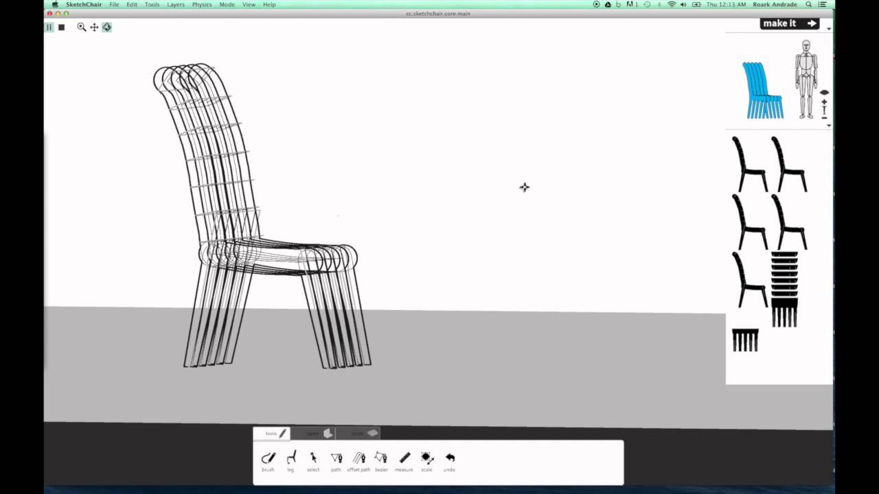 SketchChair picture or screenshot