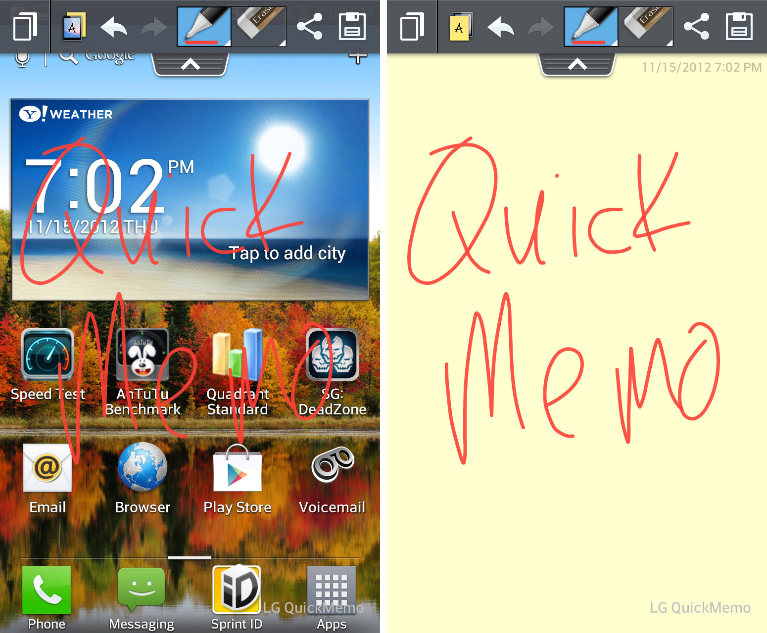 QuickMemo picture or screenshot
