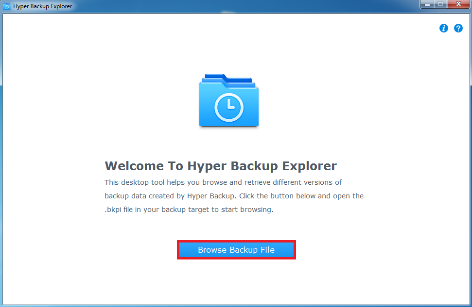 Hyper Backup Explorer picture or screenshot