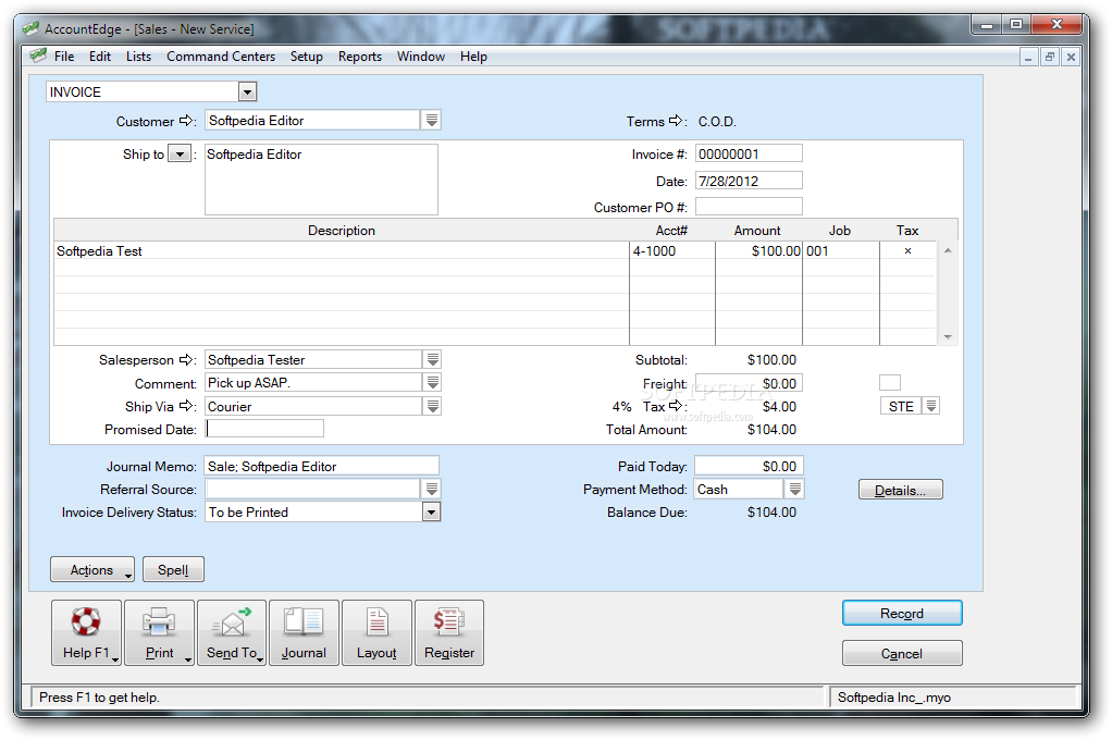 AccountEdge Pro picture