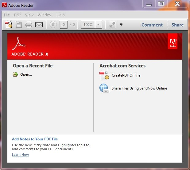 Adobe Acrobat Reader picture