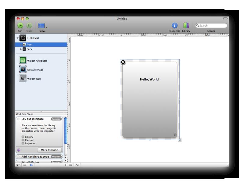 Apple Dashcode picture or screenshot