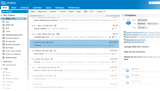 Zimbra Collaboration picture or screenshot