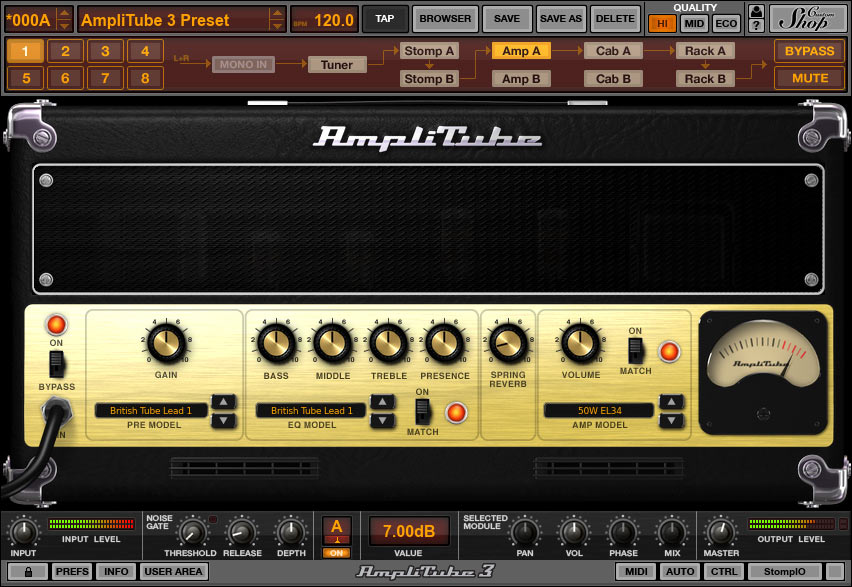 AmpliTube picture or screenshot