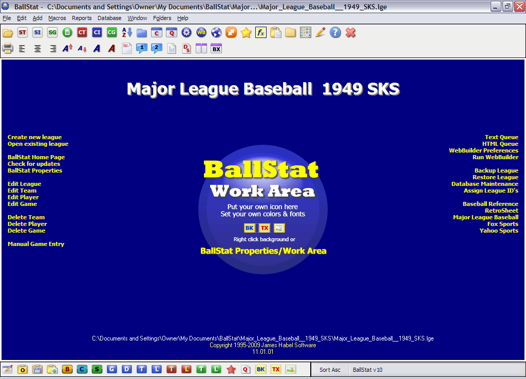BallStat picture or screenshot
