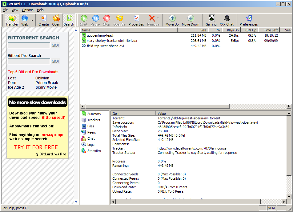BitLord - The Ultimate Torrent Downloader file extensions