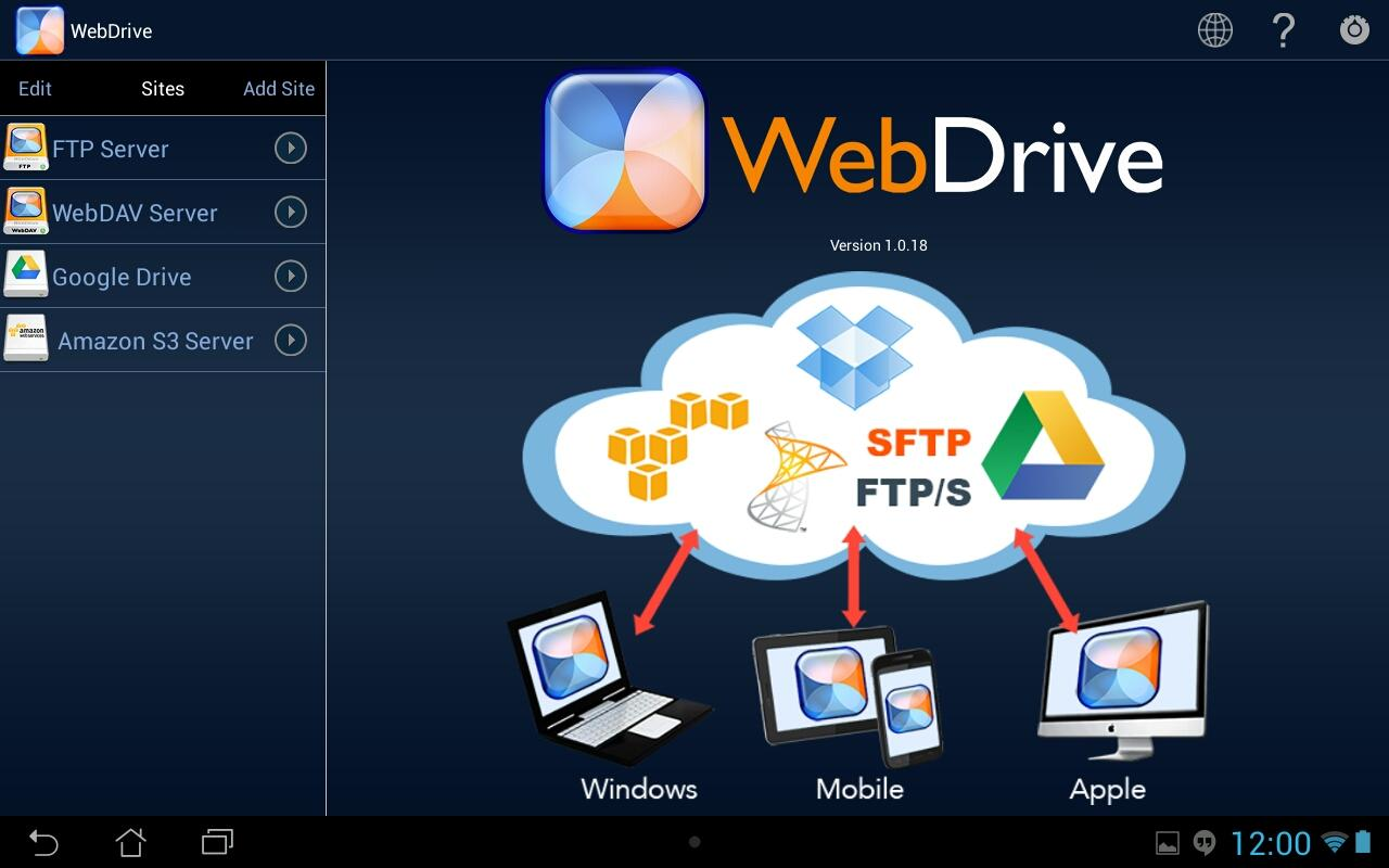 WebDrive picture or screenshot