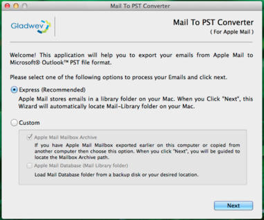 Mail To PST Converter picture