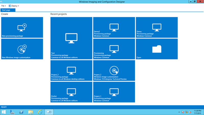 Windows Imaging and Configuration Designer picture or screenshot