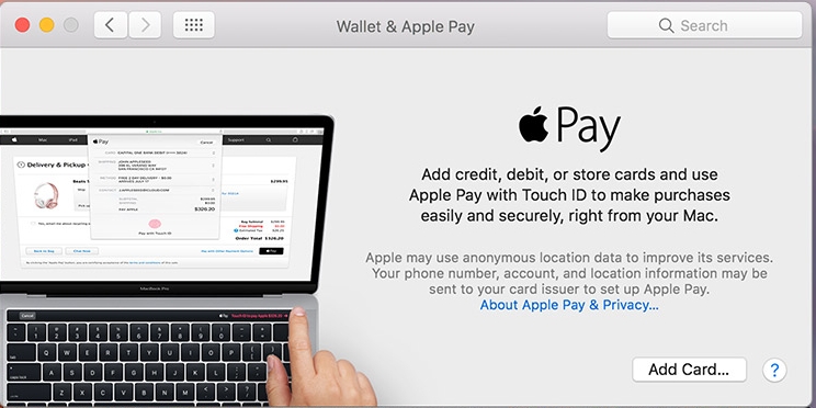 Apple Wallet for Mac (Apple Pay) picture