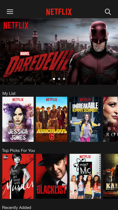 Netflix for iOS picture
