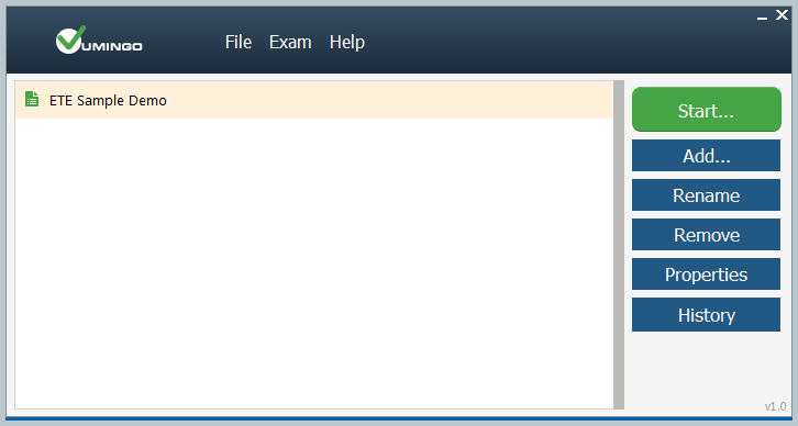 Exam Testing Engine picture or screenshot