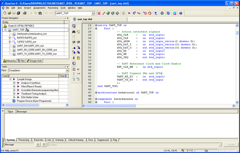 Quartus II design software picture or screenshot