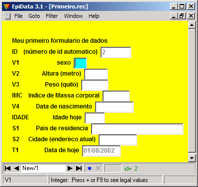 EpiData picture or screenshot
