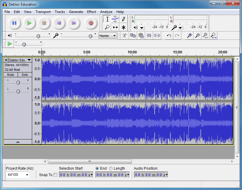Audacity file extensions