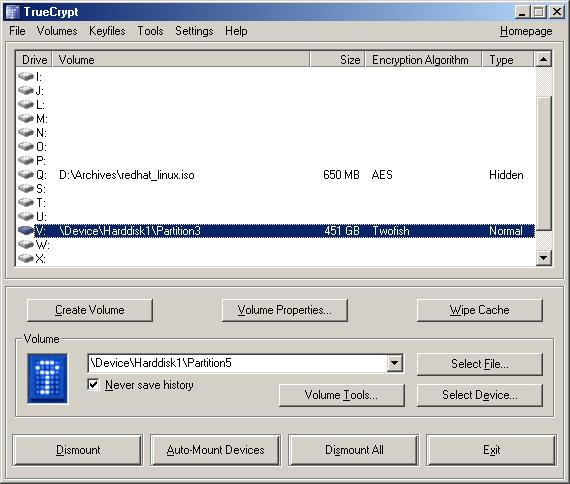 Truecrypt File Extensions