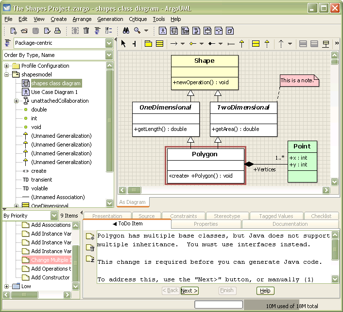 Argo UML picture or screenshot