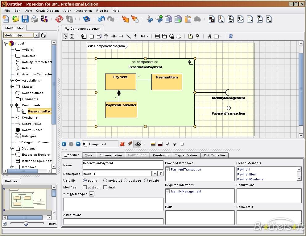 Poseidon for UML picture or screenshot