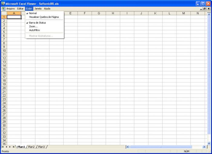 Microsoft Excel Viewer picture