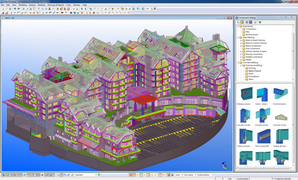 Tekla Structures software picture or screenshot