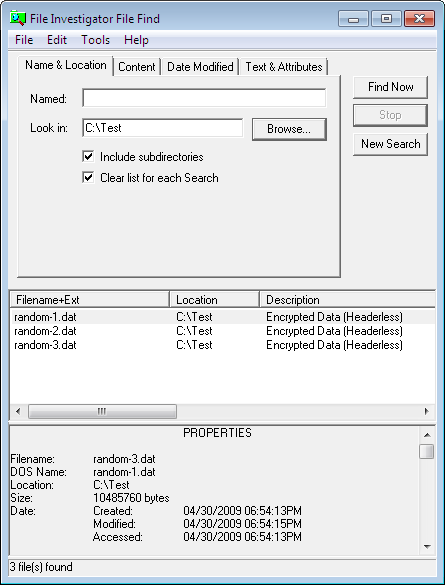 File Investigator picture or screenshot