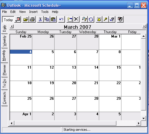 Schedule+ picture or screenshot