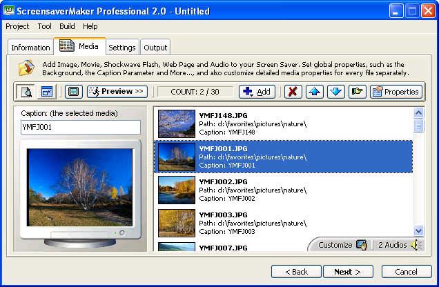 Screensaver Maker picture or screenshot