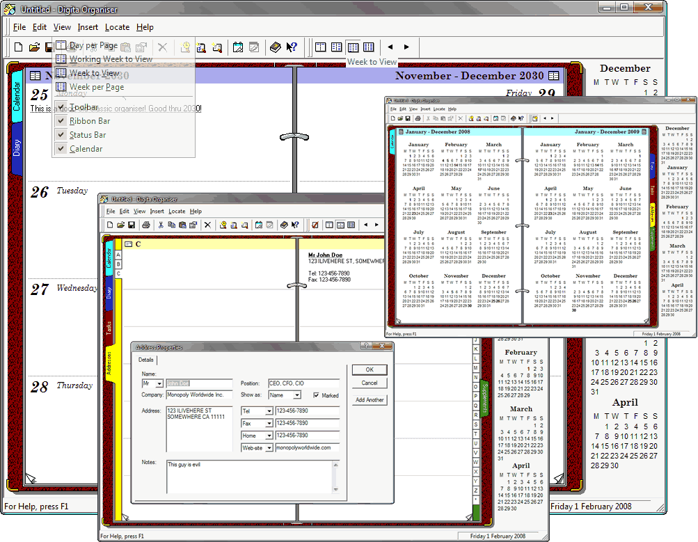 Digita Organiser picture or screenshot
