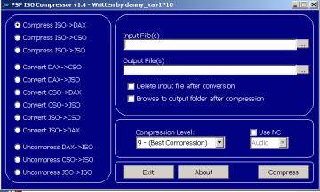 psp iso compresser v1.4 - Free Download - Free Download Software