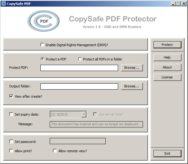 CopySafe PDF Protector picture or screenshot