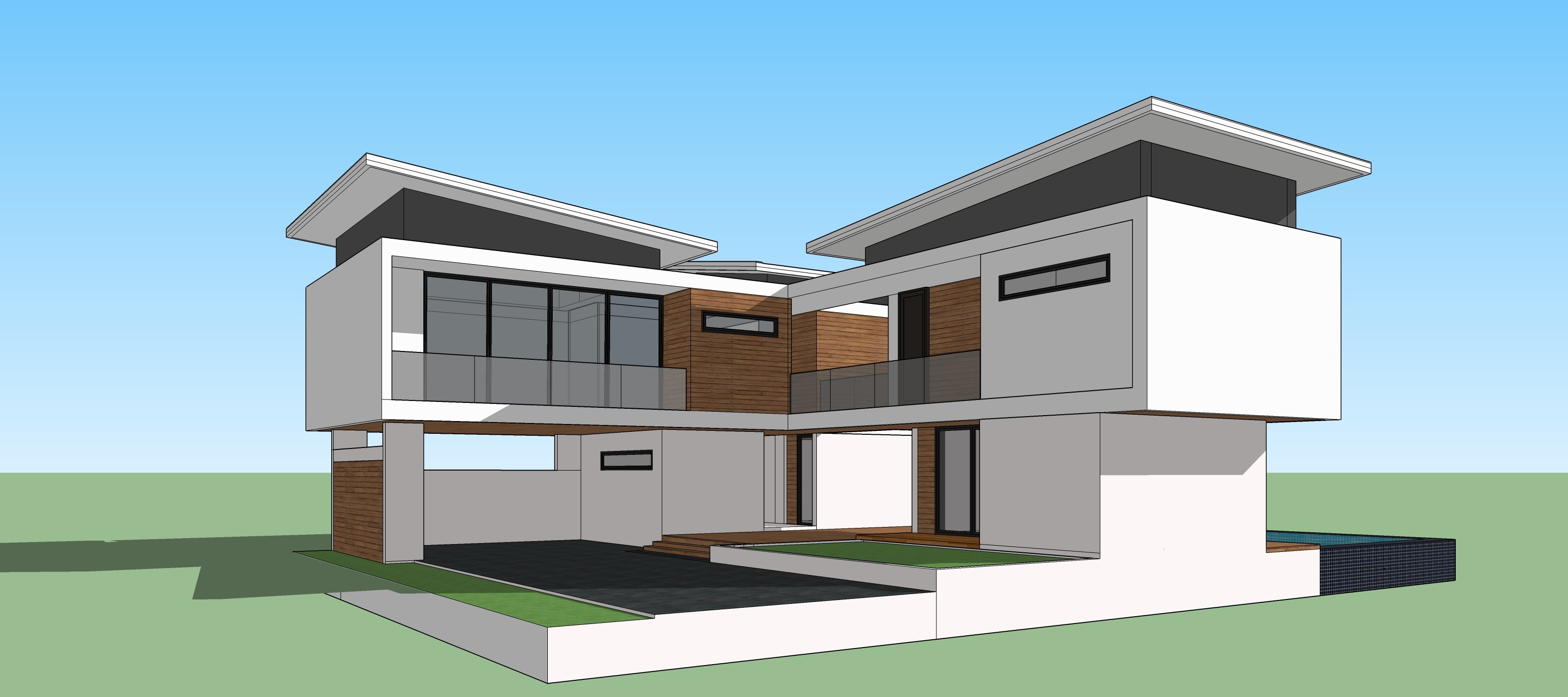 Sketchup file extensions for Simple home model