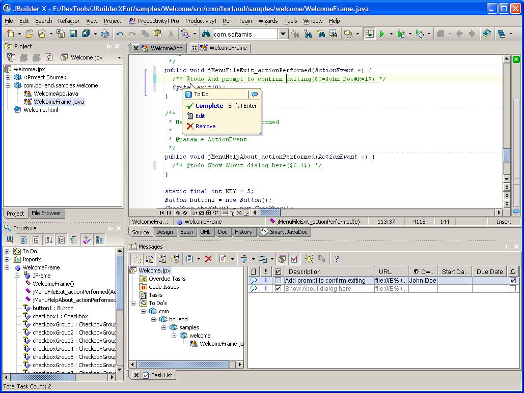 JBuilder picture or screenshot