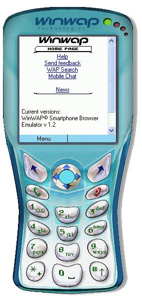 WinWAP Smartphone Browser Emulator picture or screenshot