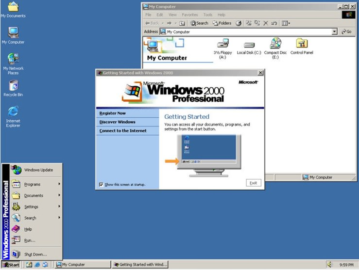Microsoft Windows 2000 File Extensions