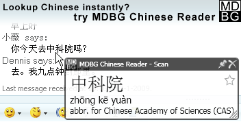 MDBG Chinese-English dictionary picture