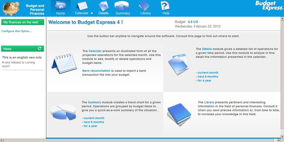 BudgetExpress picture or screenshot