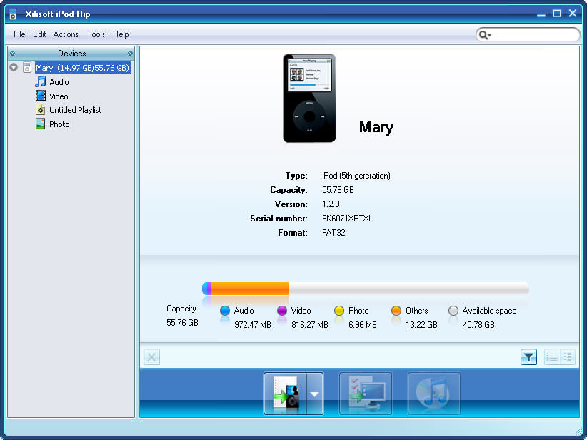 Xilisoft iPod Rip picture