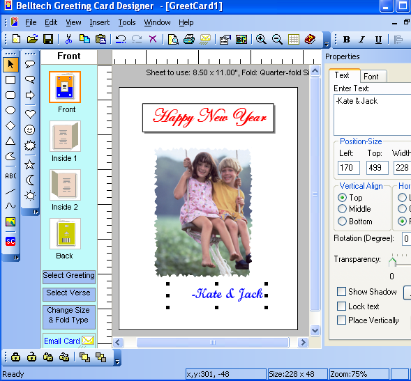 Belltech Greeting Card Designer picture or screenshot