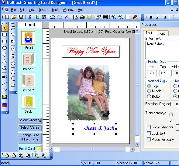 Belltech Greeting Card Designer picture or screenshot