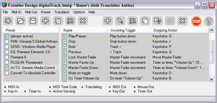 Bome's Midi Translator picture or screenshot
