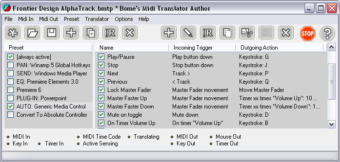 Bome's Midi Translator picture or screenshot