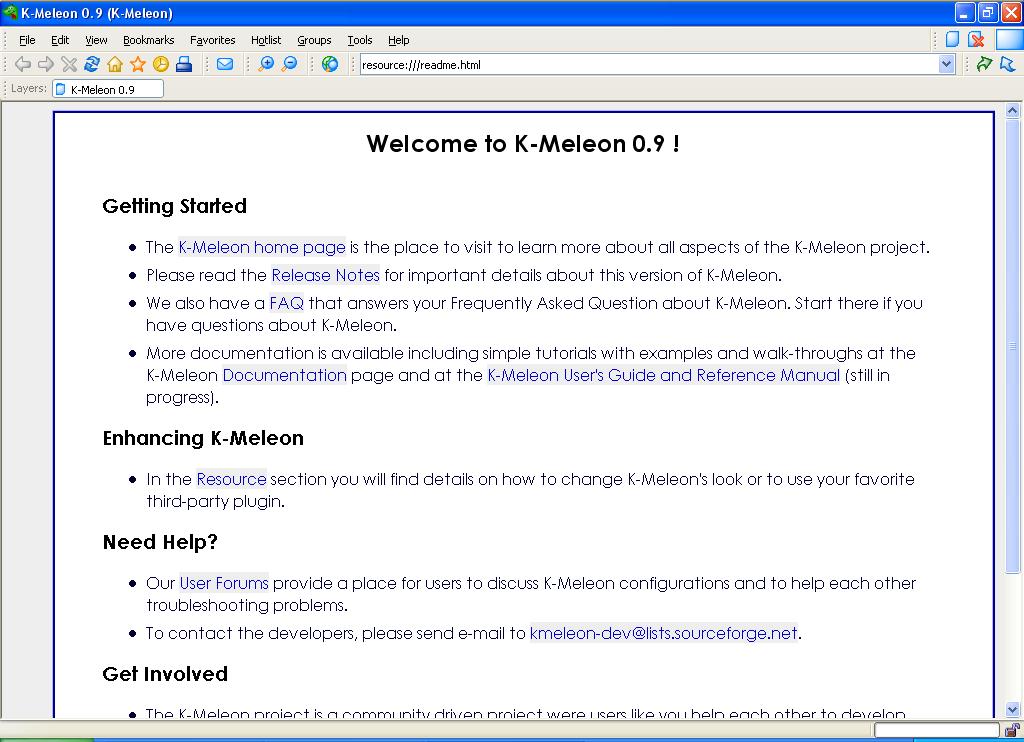 K-Meleon picture or screenshot