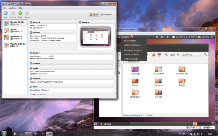 VirtualBox for Mac OS X full screenshot