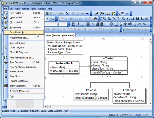 Visual UML picture or screenshot