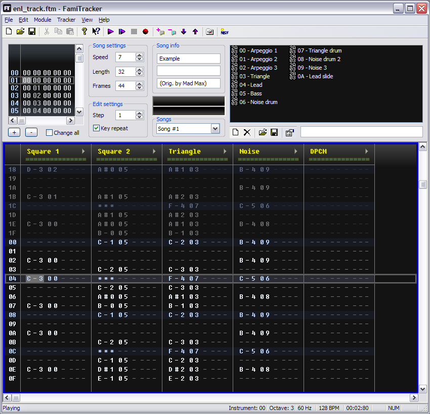 FamiTracker picture or screenshot