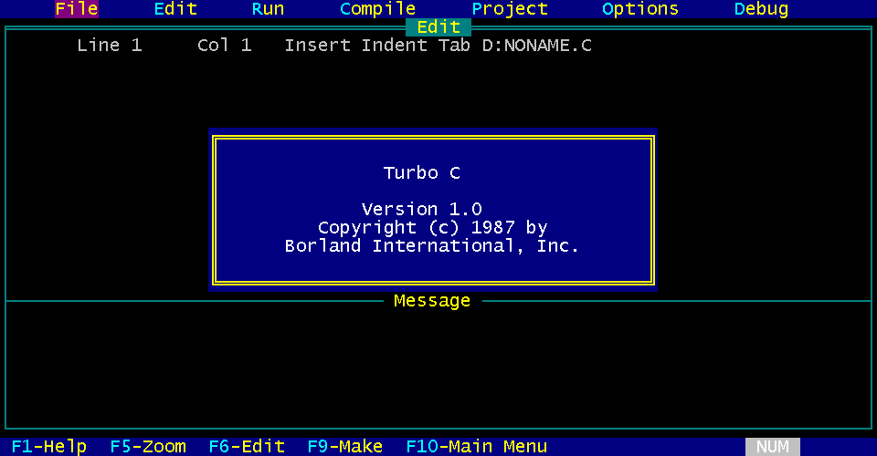 Turbo C picture or screenshot